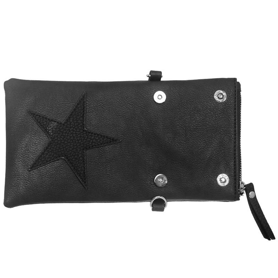 SALE - Flip top star bag / schoudertas / Groen-3