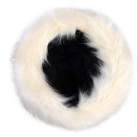 thumb-Ivoorkleurige / Bruine Muts van Nep Bont-3