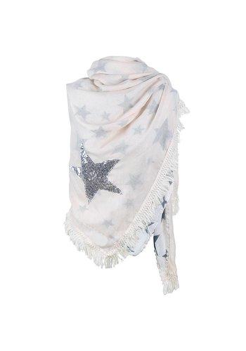 Prachtige Sjaal Stars - Off White