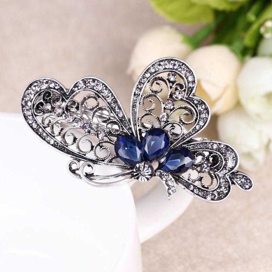 Chique Vlinder Haarclip - Blauw-4