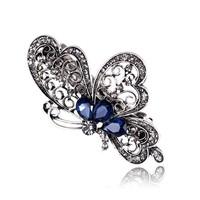 thumb-Chique Vlinder Haarclip - Blauw-1