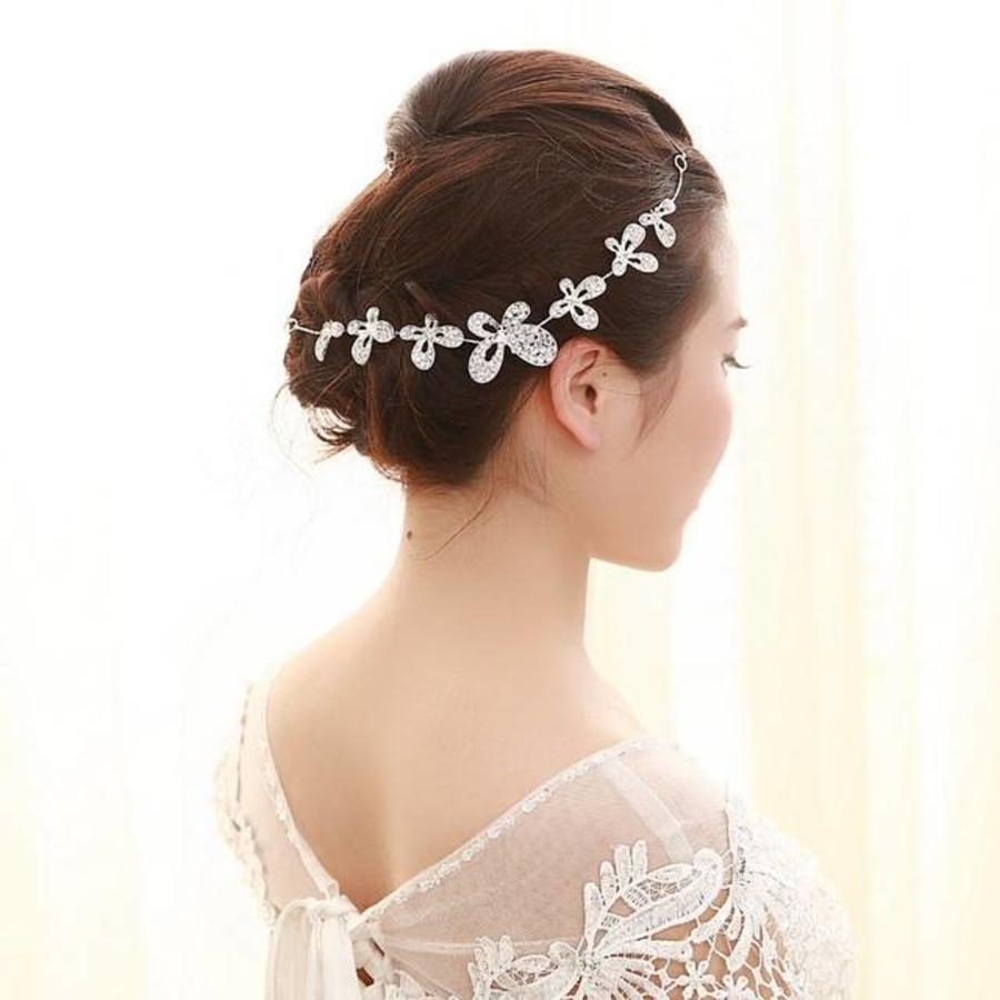 SALE - Geweldig Sieraad met Kristallen Vlinders voor in je Haar-2