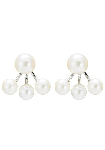 Oorbellen Pearl Double - Ivoor