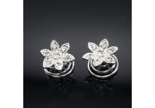 Zilverkleurige Curlies Flower - 5 stuks