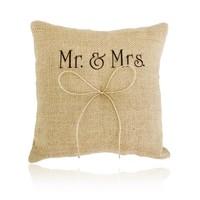 thumb-Jute Ringkussen Groot  Mr. & Mrs.-1