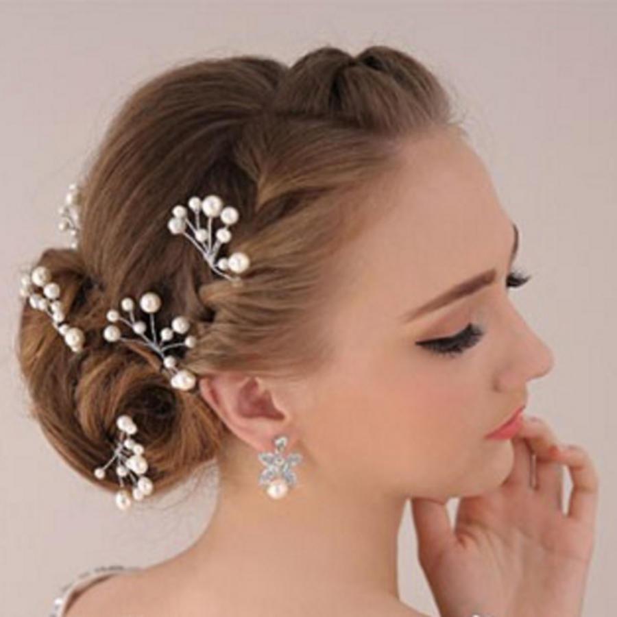 Hairpins – Ivoorkleurige Parels - 2 stuks-1