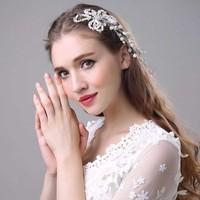 thumb-SALE - Prachtig Haar Sieraad met Parels en Kristallen-2