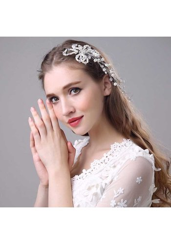Prachtig Haar Sieraad met Parels en Kristallen