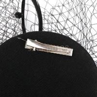 thumb-SALE - Elegante Zwarte Fascinator / Birdcage Veil-3
