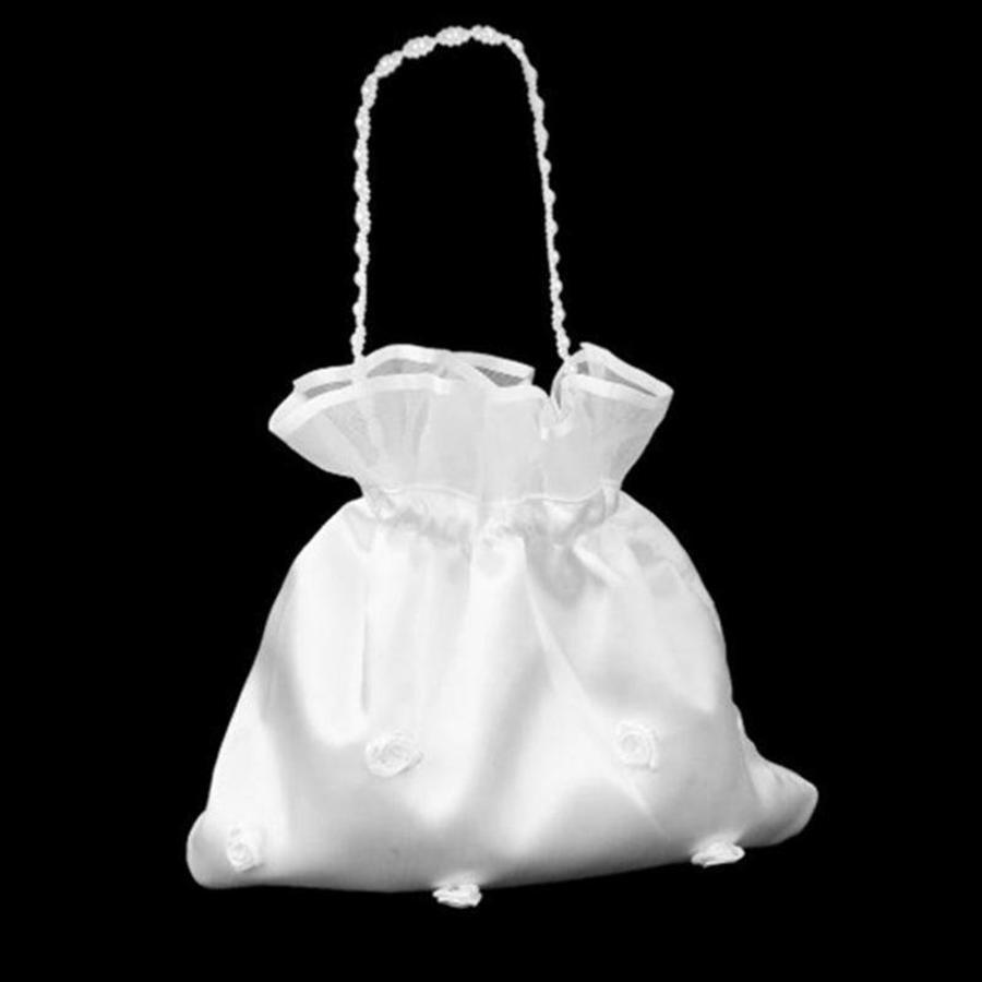 Bruidstasje met Roosjes - Wit-7