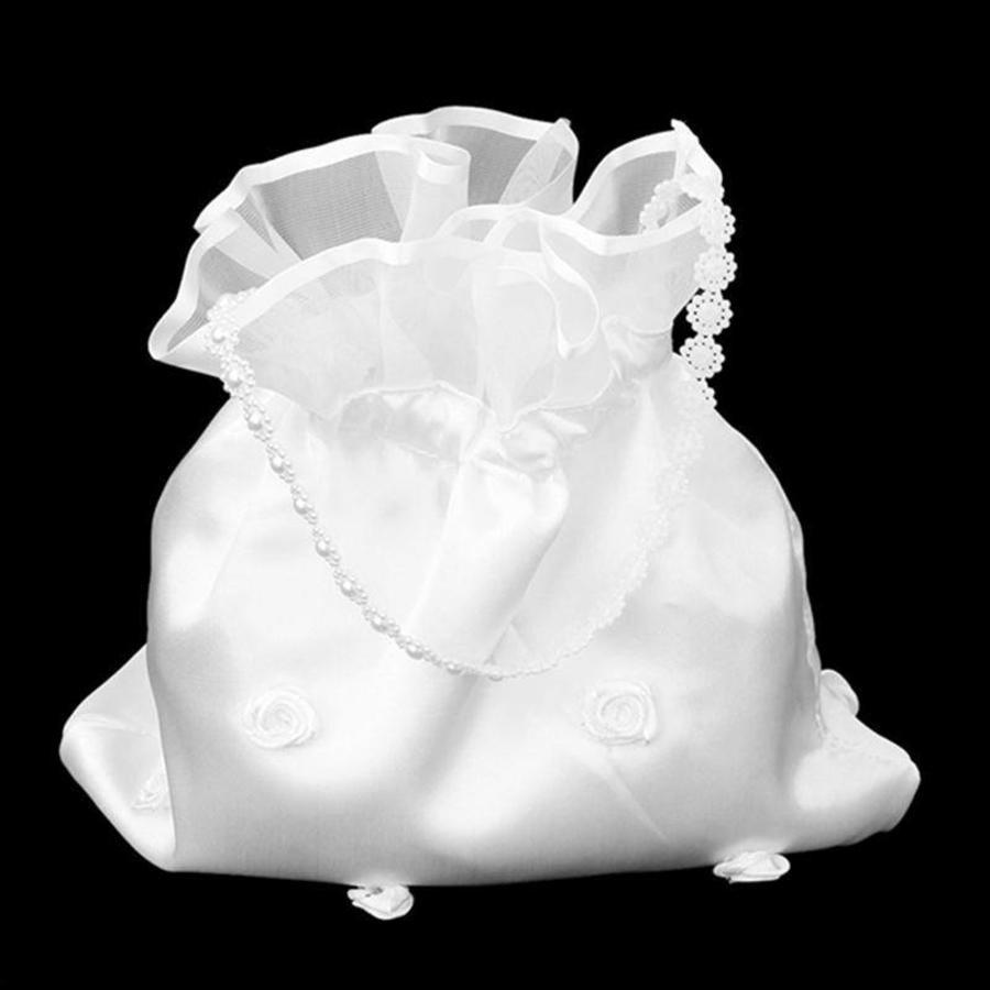 Bruidstasje met Roosjes - Wit-4