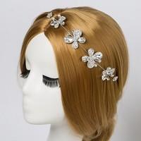 thumb-SALE - Elegant Haar Sieraad met Kristallen, Vlinders en Bloemen-1