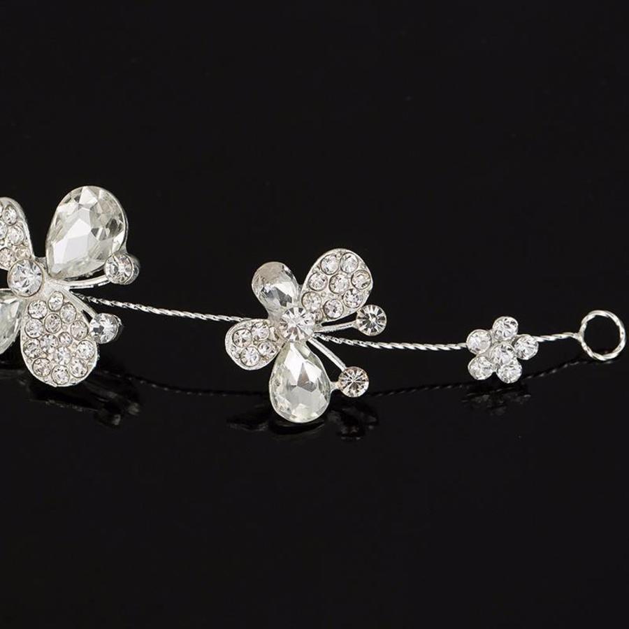 SALE - Elegant Haar Sieraad met Kristallen, Vlinders en Bloemen-4