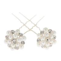 thumb-Hairpins / Haarpinnen met Parels en Diamantjes - 4 stuks-3