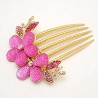 thumb-SALE - Haarkam Flower Roze-1