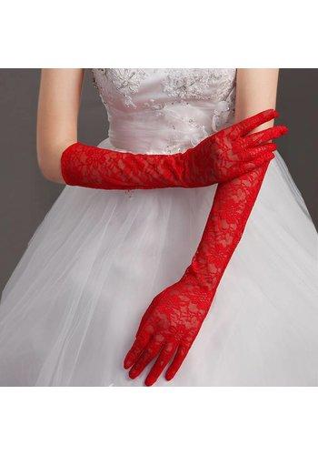 Vintage Bruidshandschoenen - Rood