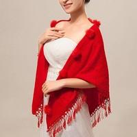 thumb-Prachtige Rode Sjaal-3
