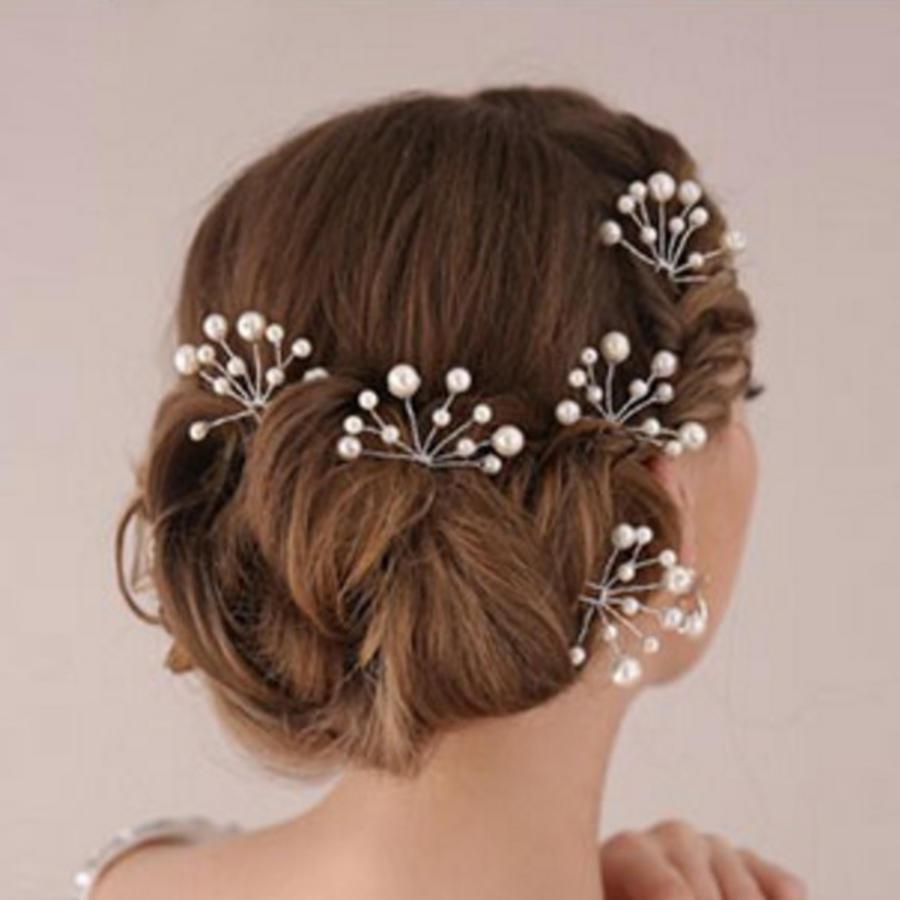 Hairpins – Parelmoer kleurige Parels - 2 stuks-2