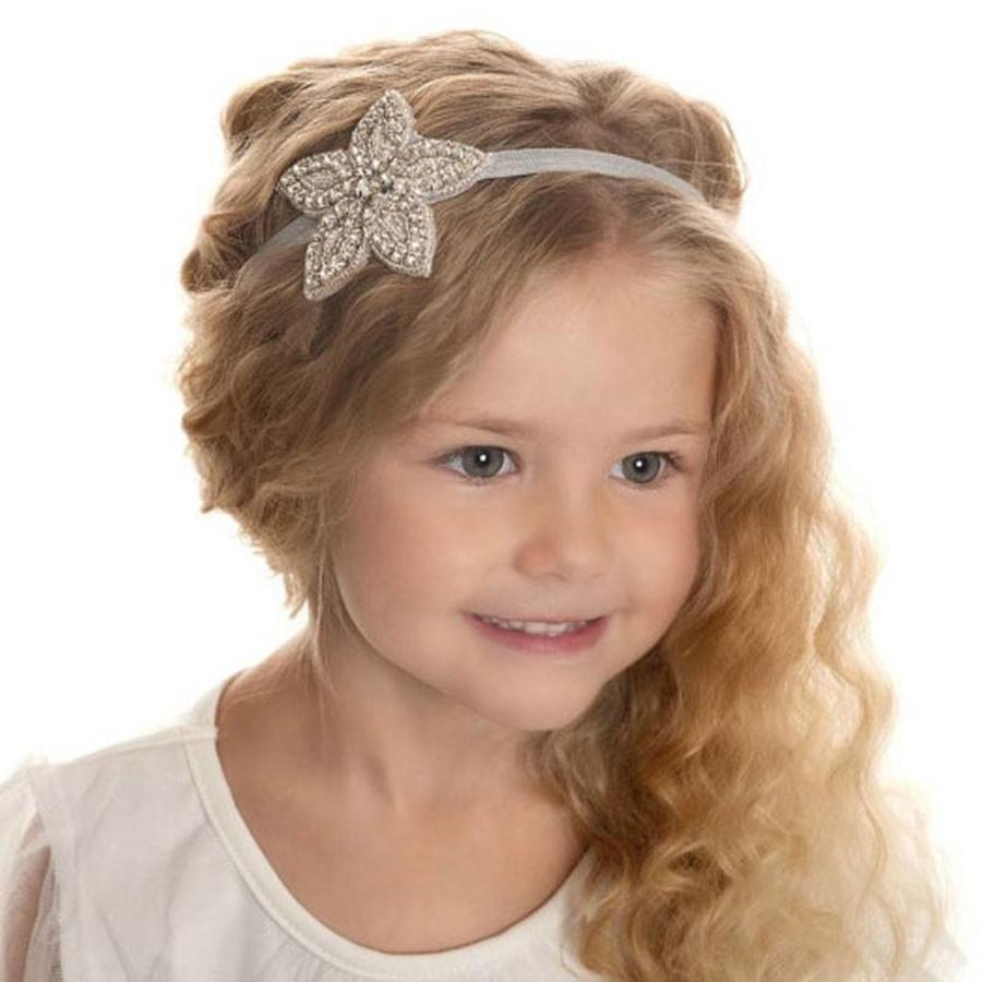 Haar Sieraad / Haarband Bloem met Fonkelende Kristallen-1