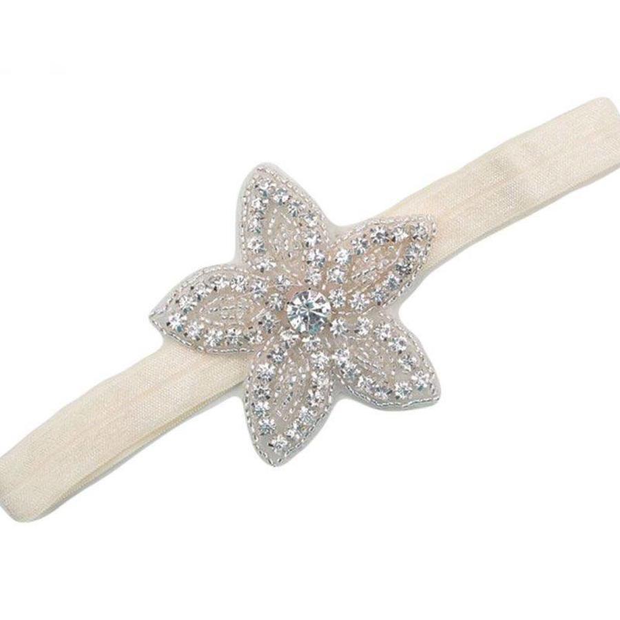 Haar Sieraad / Haarband Bloem met Fonkelende Kristallen-2