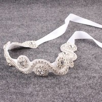 thumb-Haar Sieraad / Haarband met Fonkelende Kristallen-3