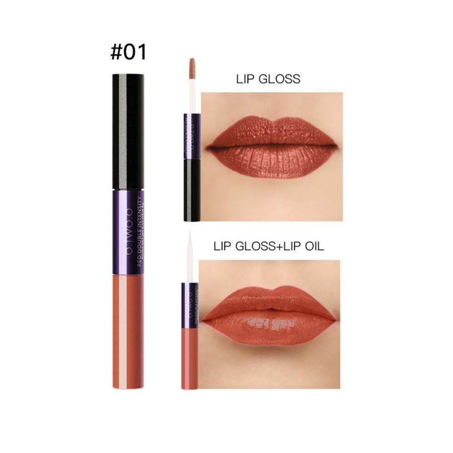 2-in-1 Matte  Lipgloss & Lip Oil - Color 01 Naked Orange-1
