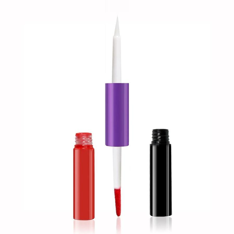 2-in-1 Matte  Lipgloss & Lip Oil - Color 05 Frenesi-6