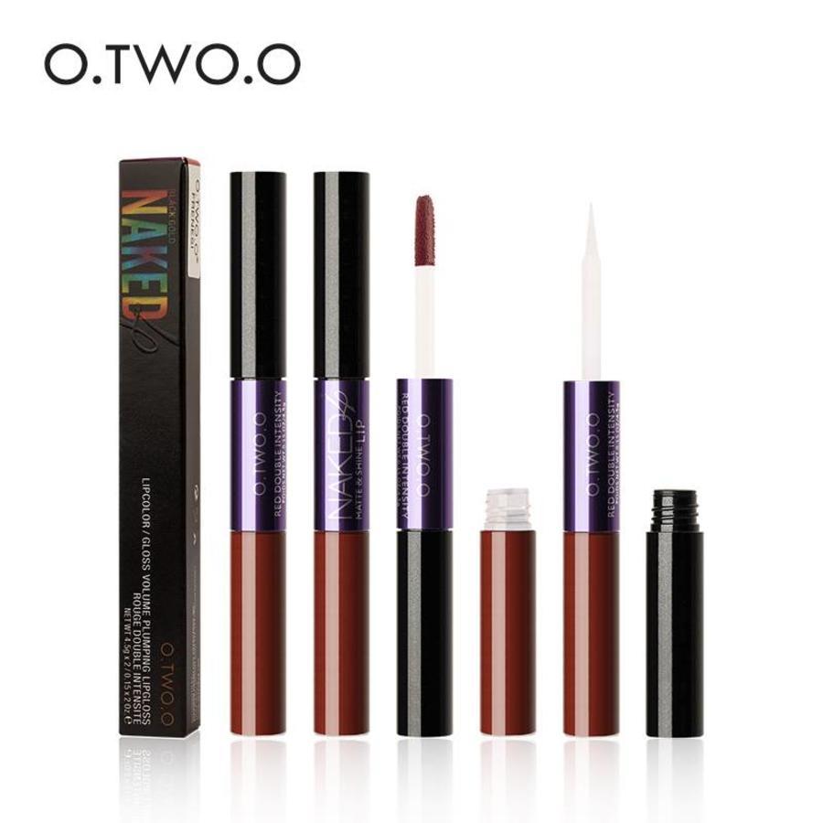 2-in-1 Matte  Lipgloss & Lip Oil - Color 06 Encounter-4