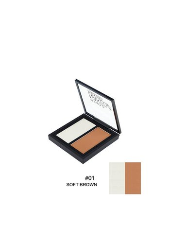 Powder Contouring Make-up Kit - Color 01 Soft Brown