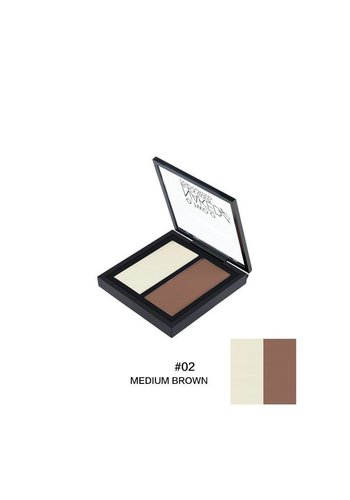 Powder Contouring Make-up Kit - Color 02 Medium Brown