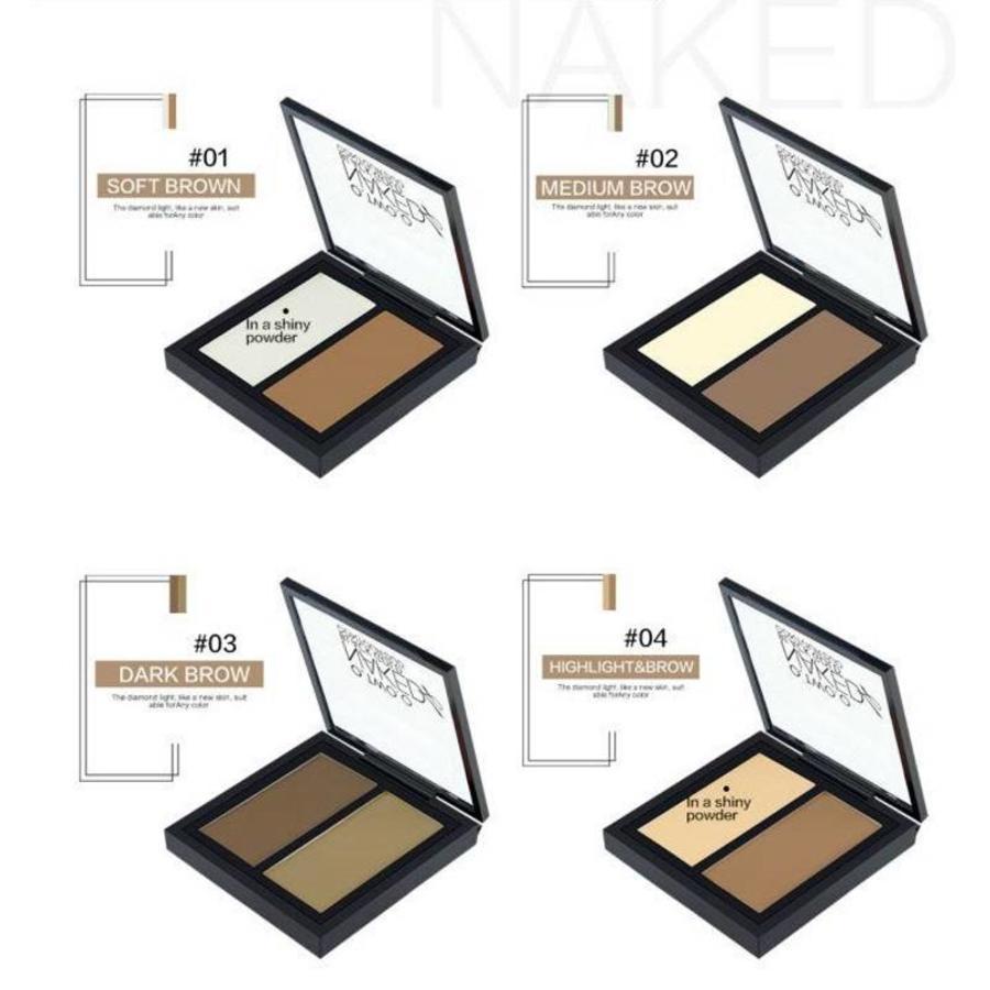 Powder Contouring Make-up Kit - Color 03 Dark Brown-2