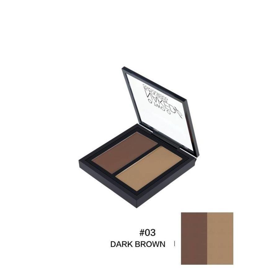 Powder Contouring Make-up Kit - Color 03 Dark Brown-1