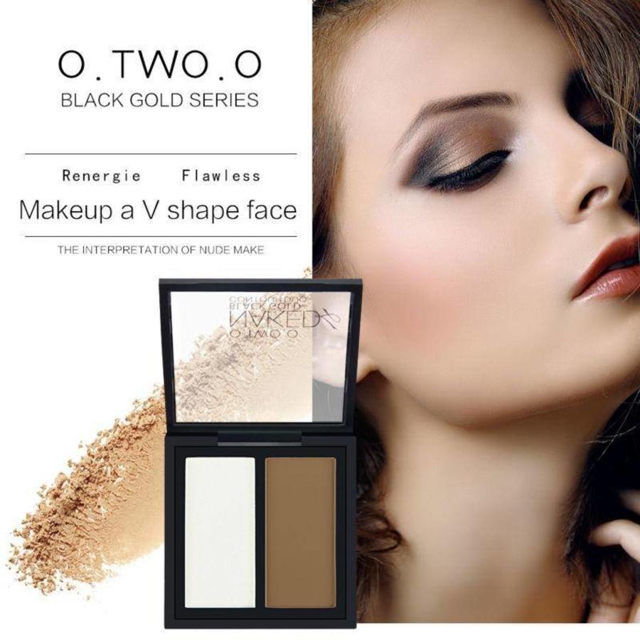 Powder Contouring Make-up Kit - Color 04 Highlight & Brown-6