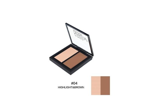 Powder Contouring Make-up Kit - Color 04 Highlight & Brown