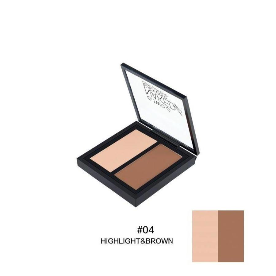 Powder Contouring Make-up Kit - Color 04 Highlight & Brown-1