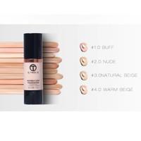 thumb-Fluid Foundation 24H Radiant - Color Warm Beige-5