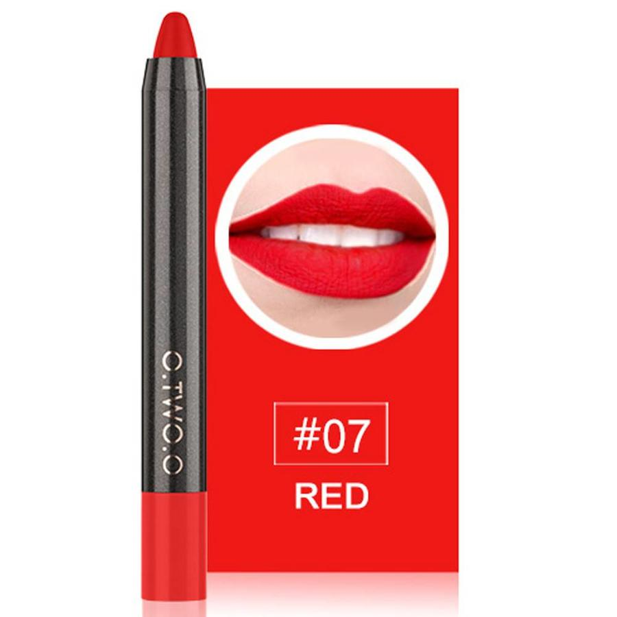 Crayon Matte Lipstick - Color 07 Red-1