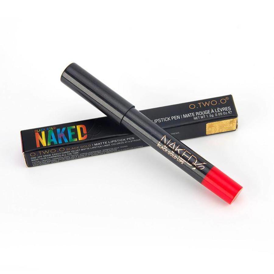 Crayon Matte Lipstick - Color 08 Regal Red-8