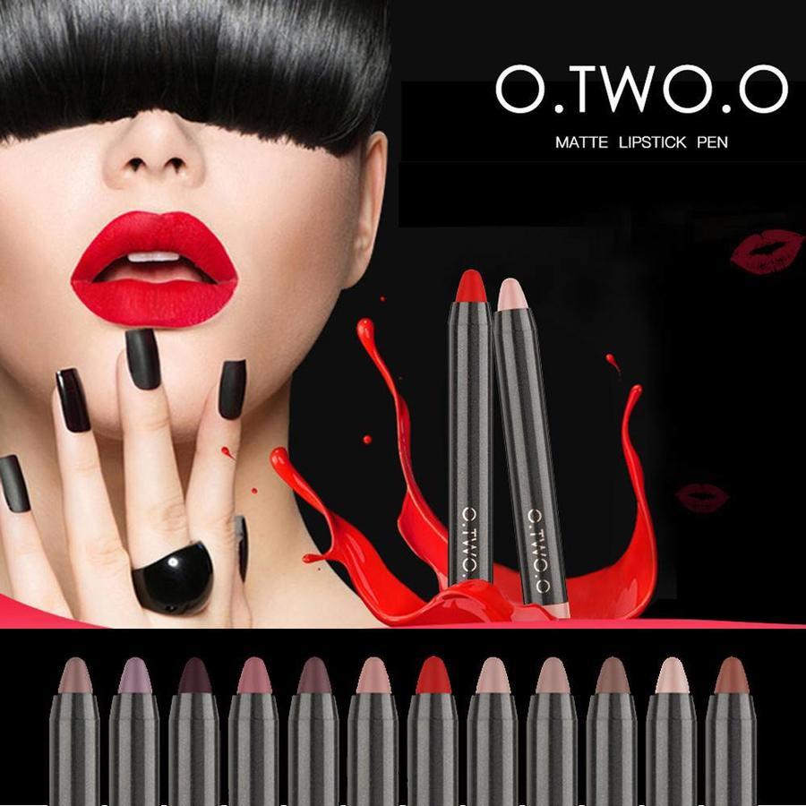 Crayon Matte Lipstick - Color 08 Regal Red-3