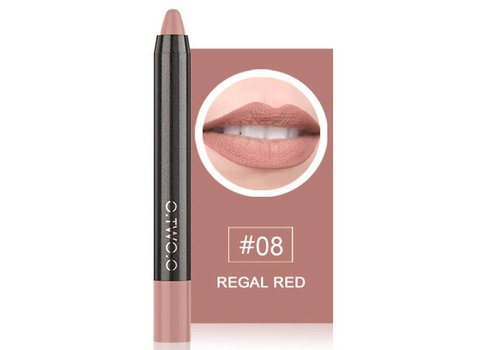 Crayon Matte Lipstick - Color 08 Regal Red