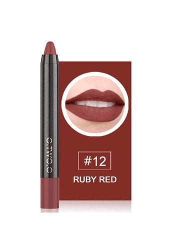Crayon Matte Lipstick - Color 12 Ruby Red