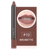 thumb-Crayon Matte Lipstick - Color 10 Brunette-1