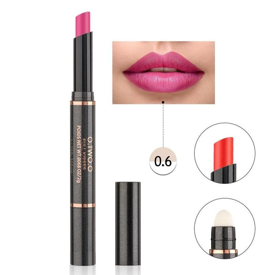 Matte Lipstick Pen & Lip Brush 2 in 1 - Color 0.6 Pinky Violet-1