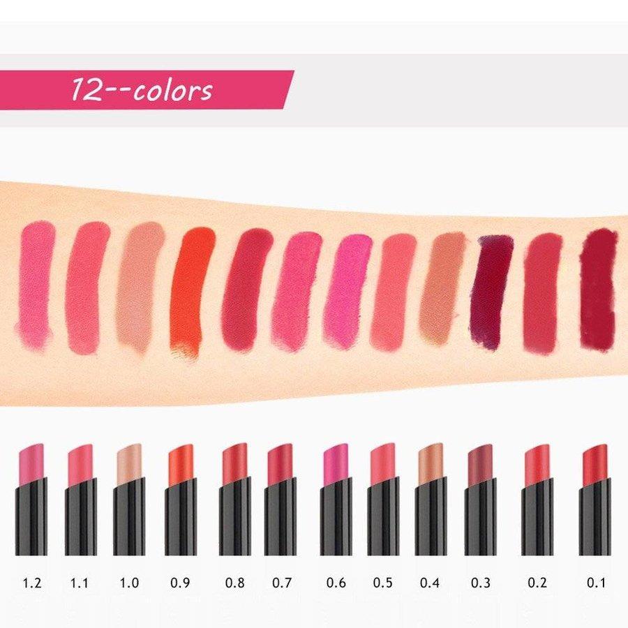 Matte Lipstick Pen & Lip Brush 2 in 1 - Color 0.7 Ruby Red-2