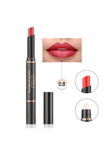 Matte Lipstick Pen & Lip Brush 2 in 1 - Color 0.8 Topaz Orange