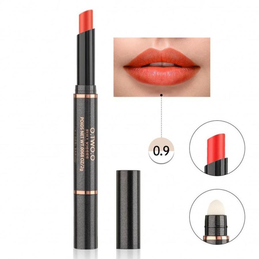 Matte Lipstick Pen & Lip Brush 2 in 1 - Color 0.9 Fusion Orange-1