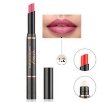 thumb-Matte Lipstick Pen & Lip Brush 2 in 1 - Color 1.2 Noble Pink-1