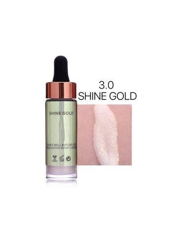 Highlighter Met Shimmer Glitter Effect - Color 3.0 Shine Gold
