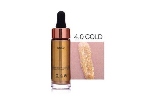 Highlighter Met Shimmer Glitter Effect - Color 4.0 Gold