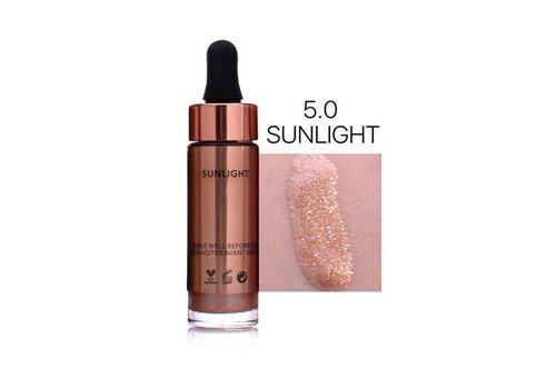 Highlighter Met Shimmer Glitter Effect - Color 5.0 Sunlight